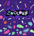 zoology bacteria lettering vector image vector image