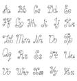 English alphabet icons vector image