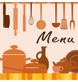 Kitchen background for menu cover vector image