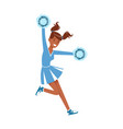cheerleading girl sport support dancing with vector image