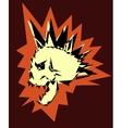 skull punk design vector image