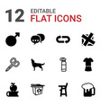 12 shadow icons vector image vector image