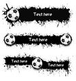 203 - soccer balls and blots vector image