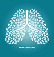 abstract human lungs from foliage vector image vector image