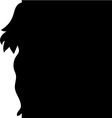 background silhouette of a girl vector image vector image