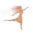beautiful dancing floral girl vector image vector image