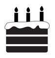 birthday cake icon on white background flat style vector image vector image