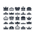 black crowns monarch luxury royal items and vector image