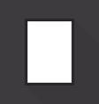 Blank picture frame on grey wall vector image vector image