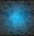 blue binary computer code abstract vector image