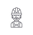 builder line icon concept builder linear vector image vector image