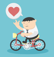 Business cycling show love vector image vector image