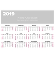 Calendar 2019 year design template vector image