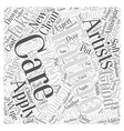 Caring For A New Tattoo Word Cloud Concept vector image vector image