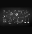 chalk drawn set science objects vector image vector image