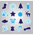 christmas icon stickers collection eps10 vector image vector image