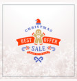 christmas sale poster design holiday shopping vector image