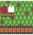 Christmas tree wrapping vector image vector image