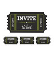 coupon ticket card vector image