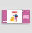 customer visiting post office website landing page vector image