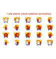 cute alarm clock child ticker kid character icons vector image vector image