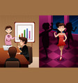 day in life of a modern woman vector image vector image