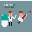 Doctor characters vector image