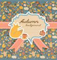 doodle autumn copybook background vector image vector image