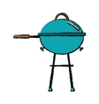 Drawing grill barbecue kettle food camping