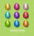 easter eggs collection color vector image vector image
