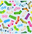 fashion colorful socks seamless pattern vector image