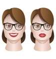 female faces with glasses vector image vector image