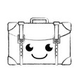 figure happy travel backpack kawaii cartoon vector image