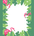 flamingo vertical banner beach design jungle vector image vector image