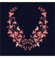 Floral design pattern vector image