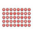 game button templates vector image