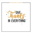 Give thanks text with black splashes vector image