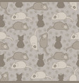 grey and brown cat stitched mouse pattern vector image