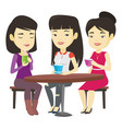 group of women drinking hot and alcoholic drinks