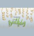 happy birthday gift card confetti vector image vector image