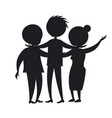 happy mature family wife and husband son black vector image