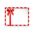 holiday stripe frame card vector image