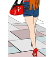 I do two steps in the city 2 vector image vector image
