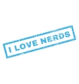 I Love Nerds Rubber Stamp vector image vector image