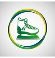 ice skater sport badge icon vector image vector image