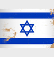 israel flag grunge vector image