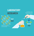 laboratory research concept banner flat style vector image