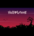 landscape halloween with grave background vector image vector image