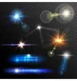 Lens Flares Set vector image vector image