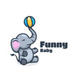 logo funny baby simple mascot style vector image